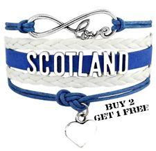 Scotland Unisex Leather Bracelet Jewellery Football United Kingdom Britain