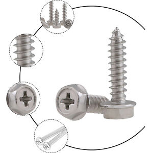 Flange Hex Head Self-tapping Screws 304 Stainless Phillips Wood Screw M3 M4 M5 6