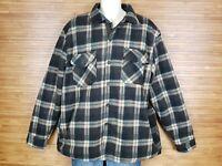 Maxxsel Brown Sherpa Lined Plaid Flannel Jacket Mens Size 2XL EUC