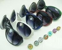 Unisex NOOSA Fashion DIY  Button Sunglasses for Sports glasses gift wholesale