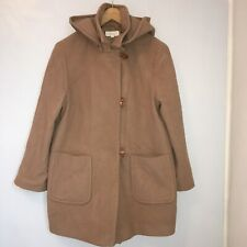 M&S Camel Wool Duffle Coat With Hood Size 8 10