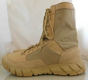 Mens Oakley Light Assault Desert Combat Military Boots Size: 11:5 Color: Tan