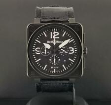 Bell & Ross BR 01-94 Military Black PVD Chronograph Date 46mm Automatic Mint