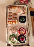 Glass Christmas Or Holiday Ornament Sushi Tray With Chopsticks New With Tags