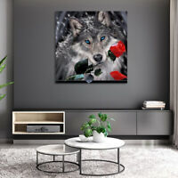 AU_ Wolves DIY 5D Diamond Painting Embroidery Animal Cross Stitch Kits Home Deco