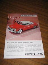 1955 Print Ad The'55 Chrysler Windsor Deluxe Nassau Tango Red & Platinum