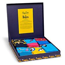Happy Socks x The Beatles Men's LP Socks Collection - 6 Pack (50th Anniversary)