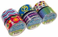 "Assorted Duct Tape 1.89""x10yd Lot 6 ArtSkills Chevron Cupcake Glitter Peace Sign"