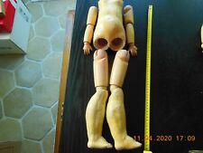 Corps de poupée en composition et bois taille 55 cm
