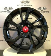 "Cerchi in lega ABARTH Grande Punto e Punto Evo da 16"" NUOVI"" ESSESSE NEW BLACK"