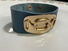 NEW wrap leather bracelet with gold