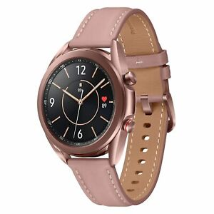 Samsung Galaxy Watch 3 4G LTE SM-R855 SAMOLED Touchscreen 8GB GPS Bronze Leather