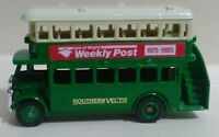 """LLEDO FROMOTIONAL """"Isle of Weight Weekly Post"""" DOUBLE-DECKER BUS ENGLAND NEW!"""