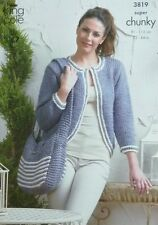 KNITTING PATTERN Ladies Easy Knit Boleros & Shoulder Bags Super Chunky KC 3819