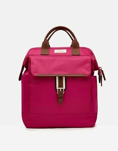 Joules Womens 215731 Canvas Rucksack - Purple Orchid - One Size