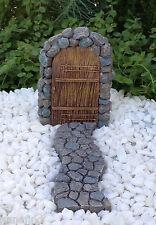Miniature Dollhouse FAIRY GARDEN ~ 2 Pce Mini Door Set w/ Stone-Look Walkway NEW