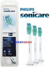 3 GENUINE PHILIPS SONICARE PRORESULTS HX6013 TOOTHBRUSH REPLACEMENT HEADS
