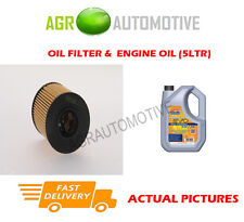 PETROL OIL FILTER + LL 5W30 ENGINE OIL FOR CITROEN DS3 1.6 120 BHP 2013-