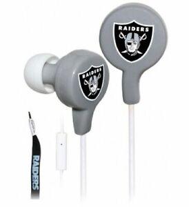 Las Vegas Raiders NFL Tangle Free Shoelace Ear Buds W/ Mic by ihip
