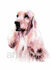 English Cocker Spaniel #2 Dog Aceo Card Print by A Borcuk