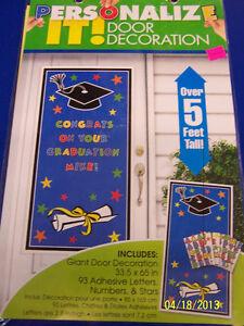 Personalize It Door Decoration Congrats Grad Graduation Plastic Party Decoration