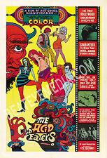 ACID EATERS MOVIE POSTER PRINT-CULT,DRUGS,LSD,HIPPIE