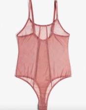 BLUSH LINGERIE - Element Bodysuit Sheer Pink Clay ASOS Lulus - M NWT