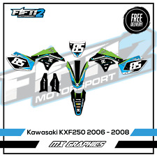 KAWASAKI KXF250 2006 2007 2008 Motocross Graphics Kit Wrap Decals Stickers
