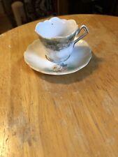 Miniture Tea Cup with Saucer Rose Flower Design