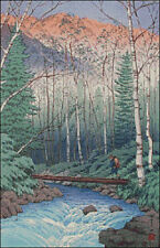 """Goldmilky cross stitch kit """"Japanese River Stream in Mountain"""" 12x19 inch (a30)"""