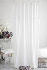 Julia OFF WHITE tende lino ottica 2x (120x240cm) tendine Landhaus SHABBY