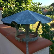 Vtg French Caroussel Roof Finial Architectural Salvage Galvanized Garden Decor
