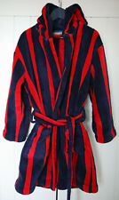 House of Fraser Linea Boys' Red and Navy Stripe Dressing Gown