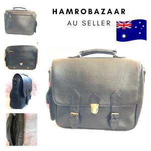 Mens Crossbody Bags Genuine Leather Vintage Business Shoulder Messager Handbag A
