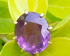 Vintage 14k Yellow Gold Amethyst Ring /Gold Amethyst Ring/14k Gold Ring/14k Ring