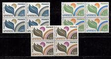 UN, UNESCO ON FRANCE 1976 Scott 2O16,17,19 MNH LOT OF 4 SETS, MNH