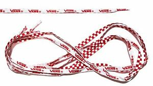 Shoe Laces (White Wite Red) With VANS Logo Unisex