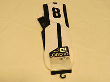 Player ID by TCK PCN LG # 9 TWI 1 sock white black vollyball basketball soccer