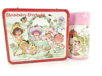 Vintage Aladdin Strawberry Shortcake Thermos and Lunchbox 1980