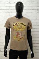 Maglia Polo Uomo HARD ROCK ROMA Taglia S Maglietta Shirt Man Casual Stampa