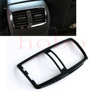 1x For Chevrolet Malibu 2011-14 Stainless Black Rear Seat Air Outlet Cover Frame