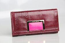 NEW $715 Jimmy Choo Remy Tourmaline Elaphe Remy Jazzberry Continental Wallet