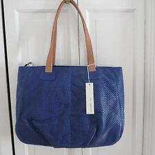 Large Christopher Kon Bridget Blue Leather Tote Bag – NWT $398