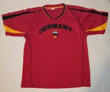 Original FIFA World Cup 2006 GERMANY Red Promo Jersey embroidered logo Large @4