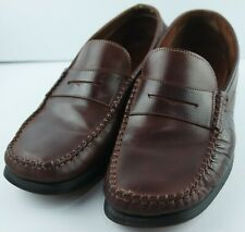 GRUPPO ITALIANO Mens Brown Penny Loafers Size 9.5 M