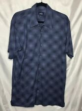 Wilke Rodriguez 2000 Shirt Men's Size XL Blue  Button Down Short Sleeve