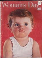 Woman's Day Magazine Mary Ellen Chase Cute Child Cover May 1942