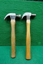 2 VINTAGE CLAW HAMMERS.