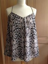 ATTRACTIVE LOVE LABEL SNAKE SKIN PRINT STRAPPY TOP UK SIZE 10 NWOT