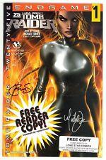 Tomb Raider (1999) #25 Cover B Signed Michael Turner Peter Steigerwald No COA VF